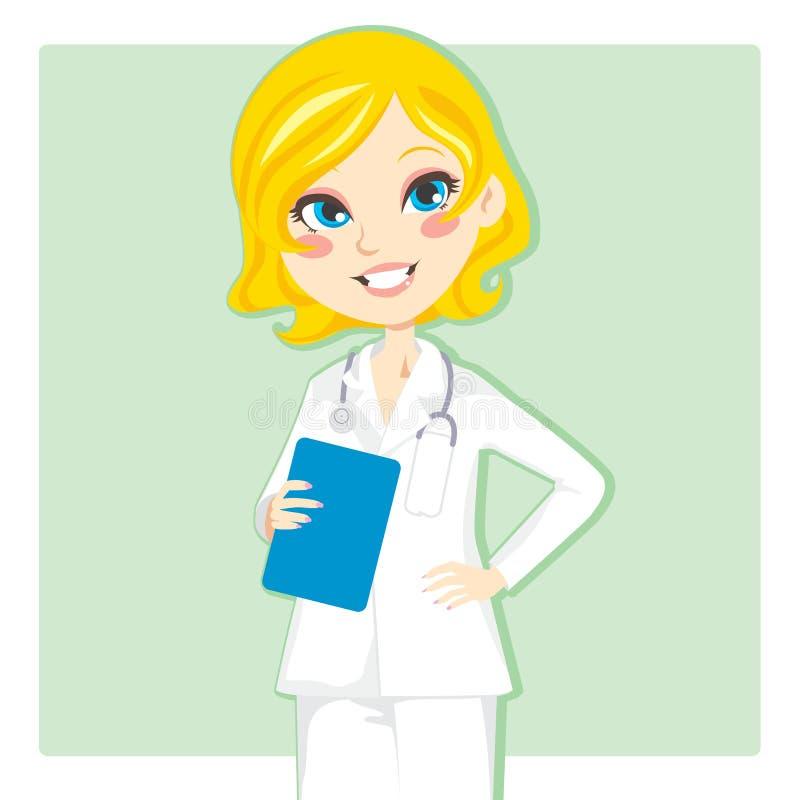 Docteur de femme illustration libre de droits