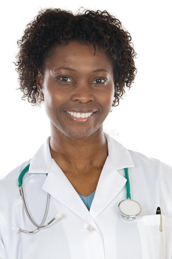 Docteur de femme d'Afro-américain image stock