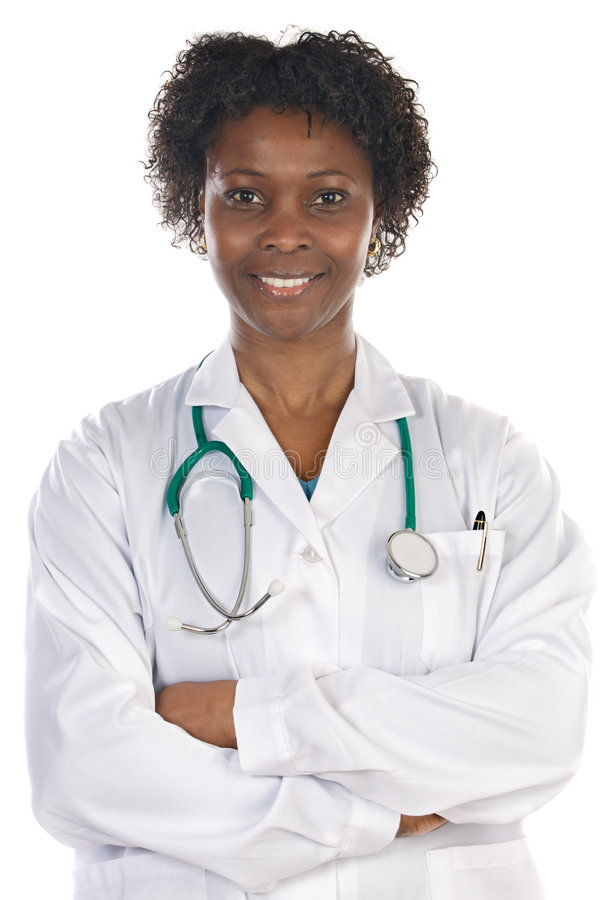 Docteur de femme d'Afro-américain photo libre de droits