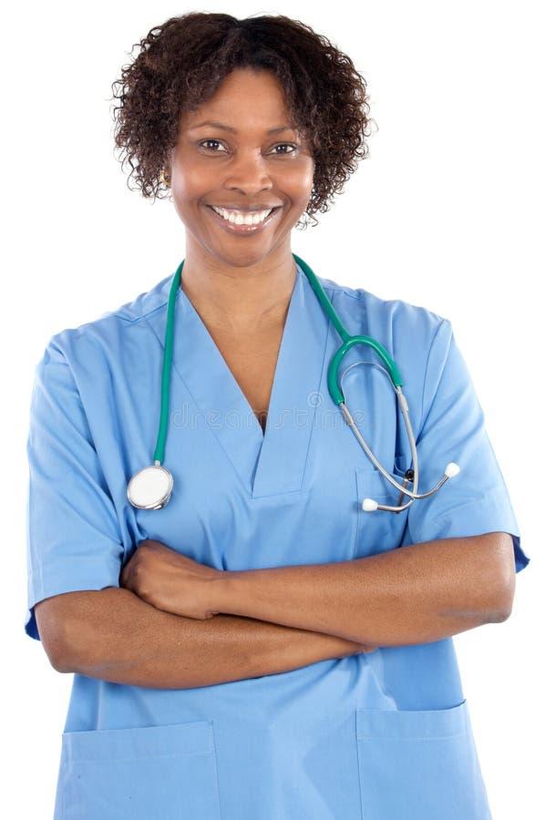 Docteur de femme d'Afro-américain image libre de droits
