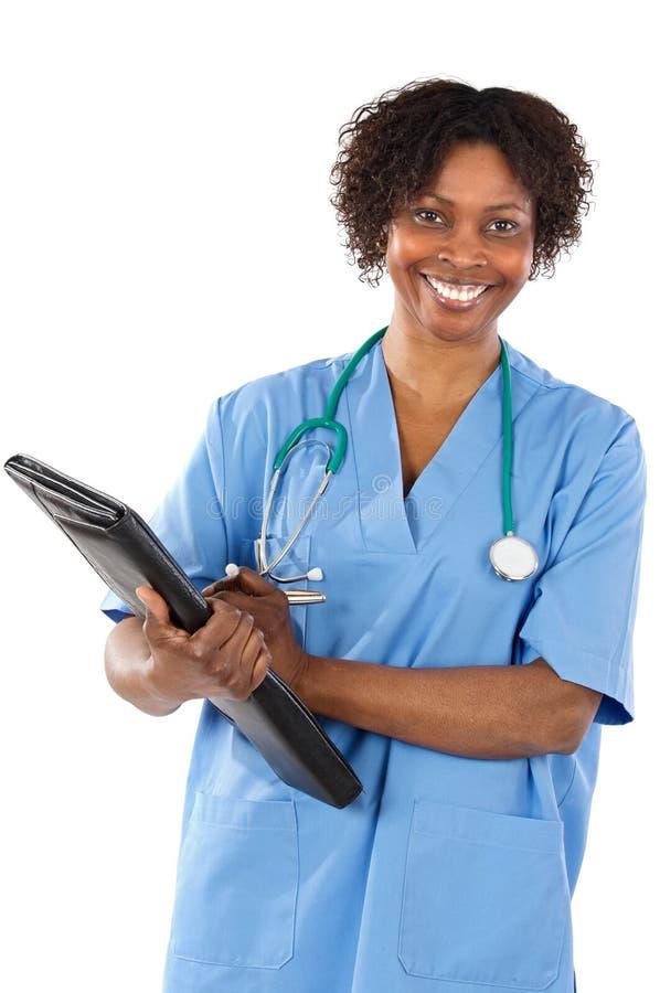 Docteur de femme d'Afro-américain photo stock