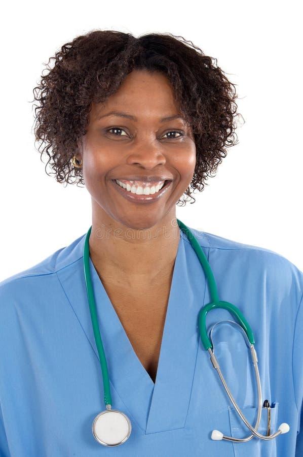 Docteur de femme d'Afro-américain photos stock