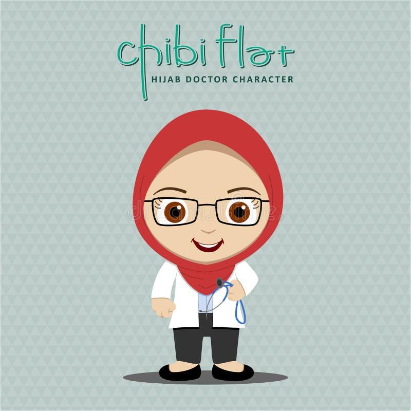 Docteur de femmes de Hijab illustration stock