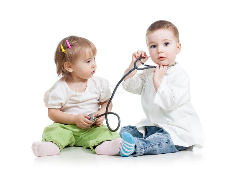 Docteur de jeu d'enfants photos stock