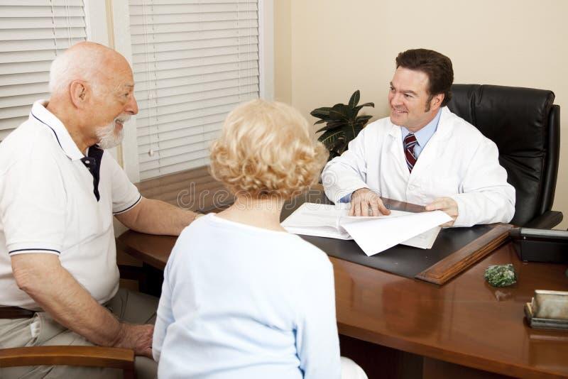 Docteur Discussing Treatment Plan photographie stock libre de droits