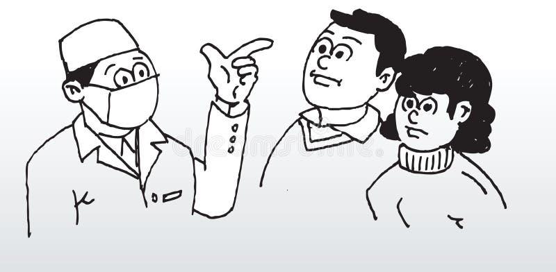 Docteur donnant des conseils illustration libre de droits