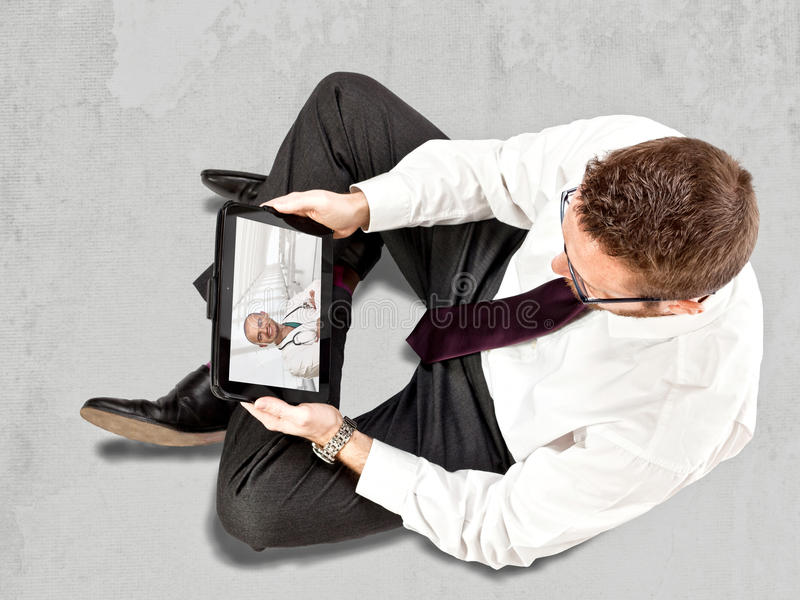 Docteur en ligne photos stock