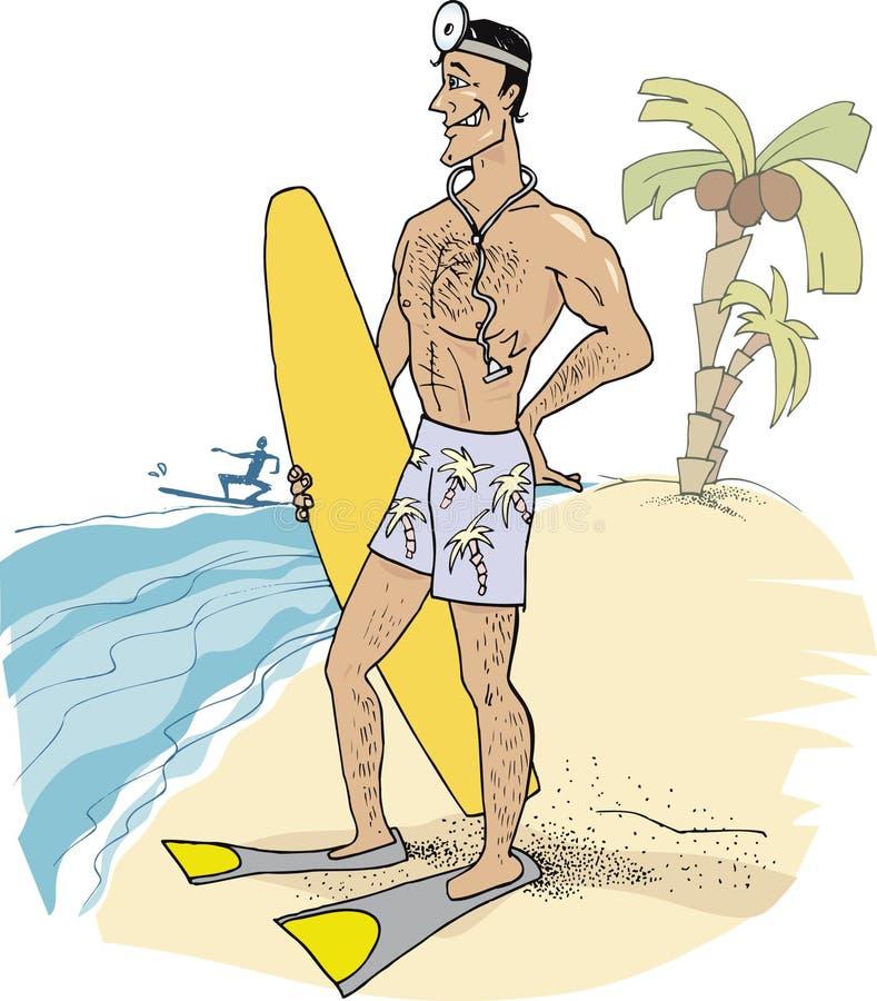 Docteur en vacances illustration stock