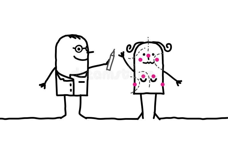 Docteur et chirurgie esthétique illustration libre de droits