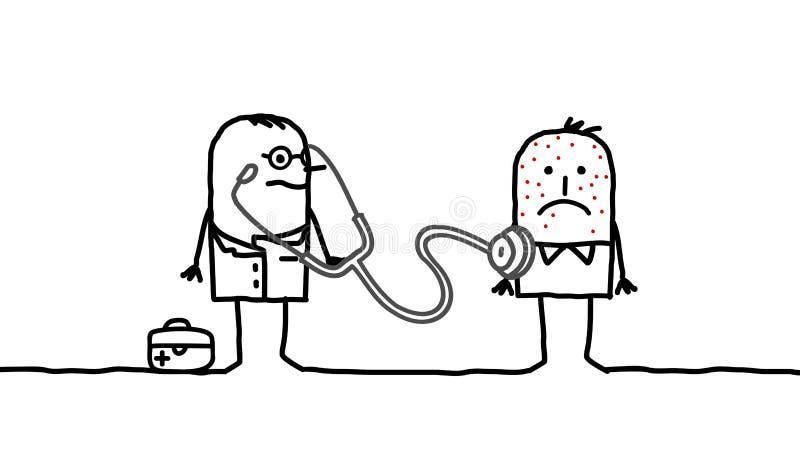 Docteur et maladie illustration de vecteur