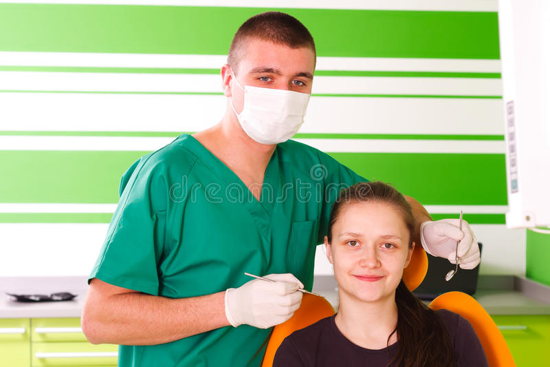 Docteur et patient heureux photo libre de droits