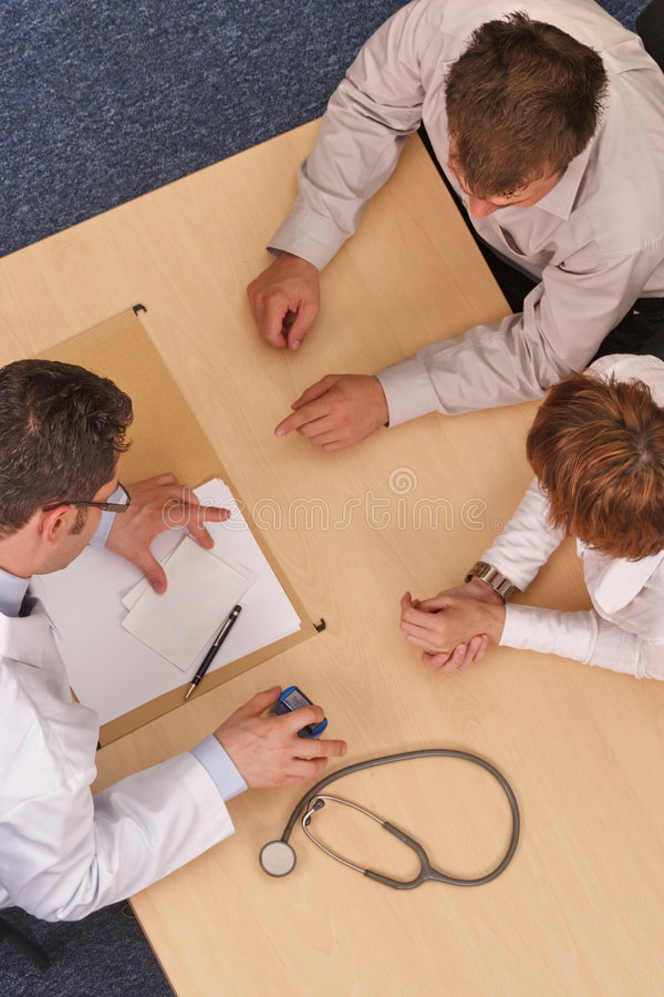 Docteur et patients   photo stock