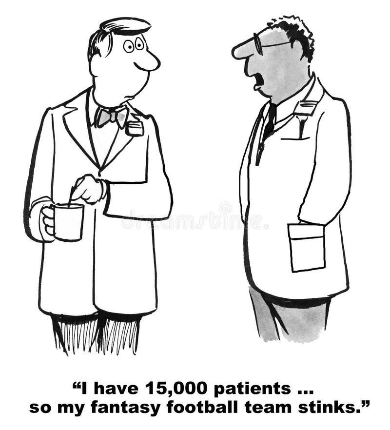 Docteur excessivement occupé illustration de vecteur