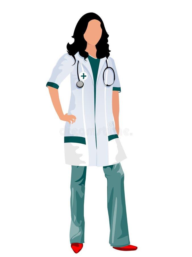 Docteur féminin illustration stock