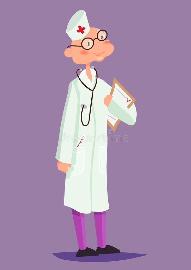 Docteur masculin gai Illustration de vecteur illustration de vecteur