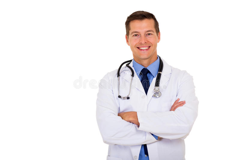 Docteur masculin Portrait photo libre de droits