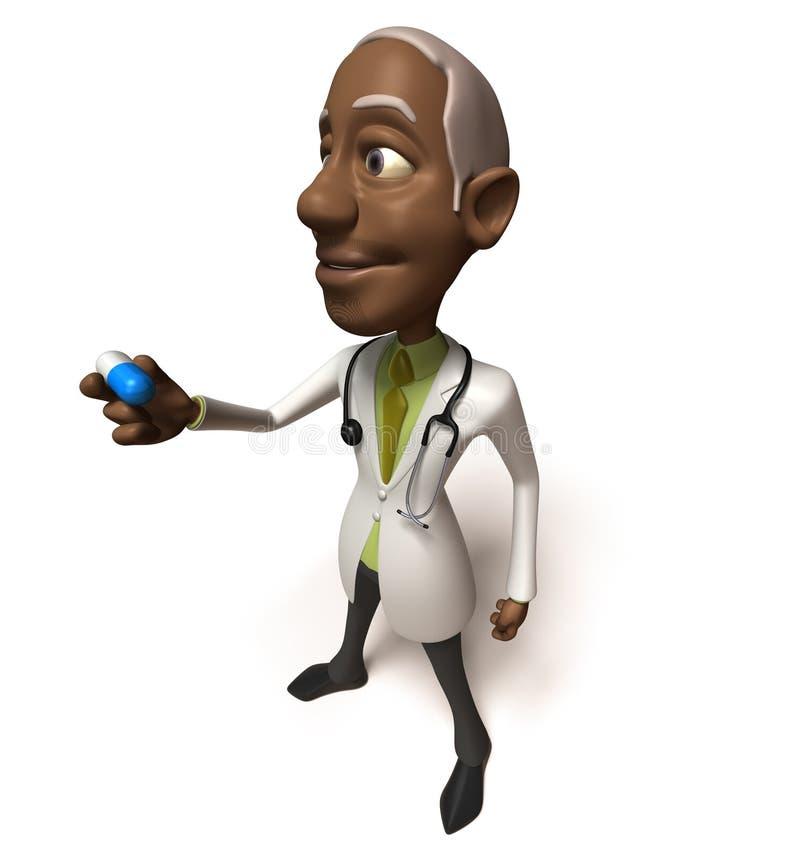 Docteur noir illustration libre de droits