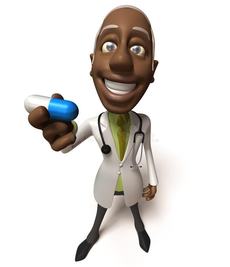Docteur noir illustration de vecteur