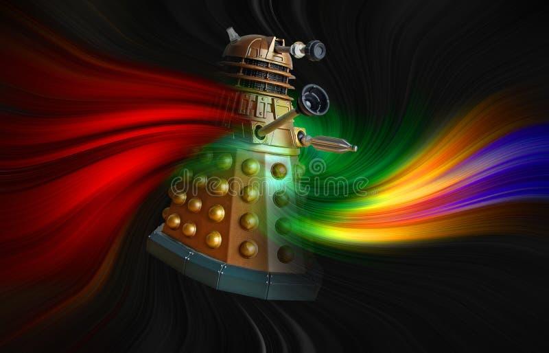 Docteur qui caractère ennemi de la science-fiction de vortex de voyage dans l'espace de temps de dalek illustration libre de droits