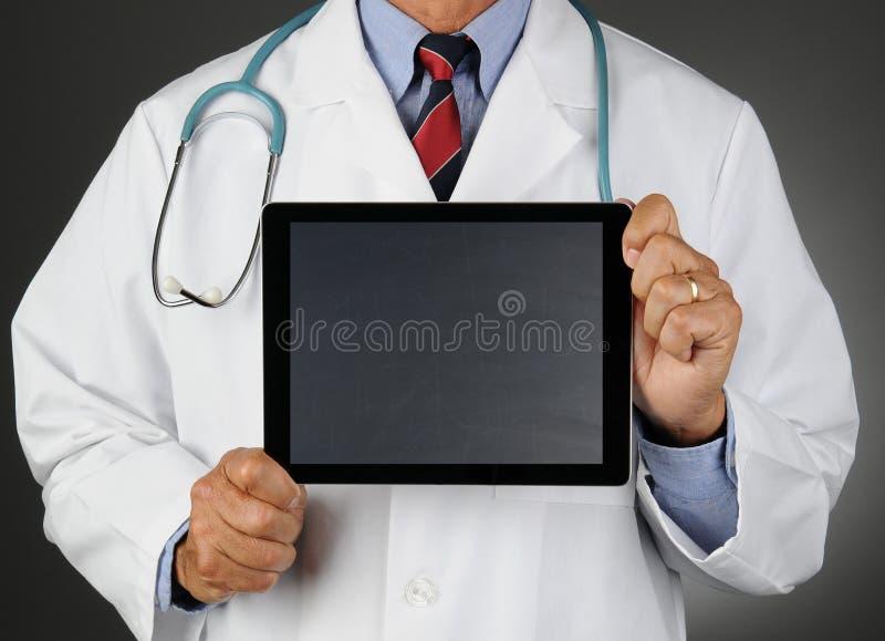 Docteur Tablet Chalkboard Screen photographie stock