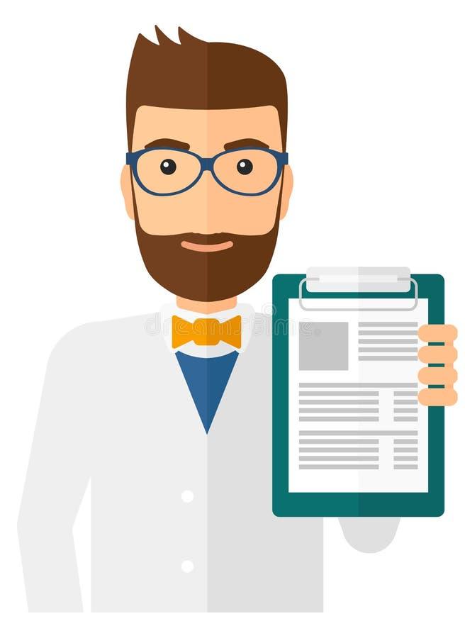 Docteur tenant le bloc-notes médical illustration libre de droits