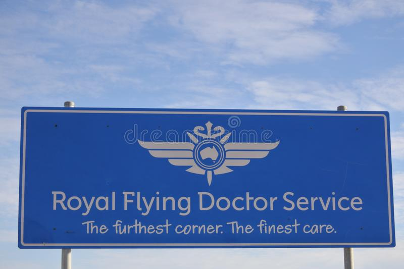 Docteur volant royal Service de signe de l'Australie photo stock