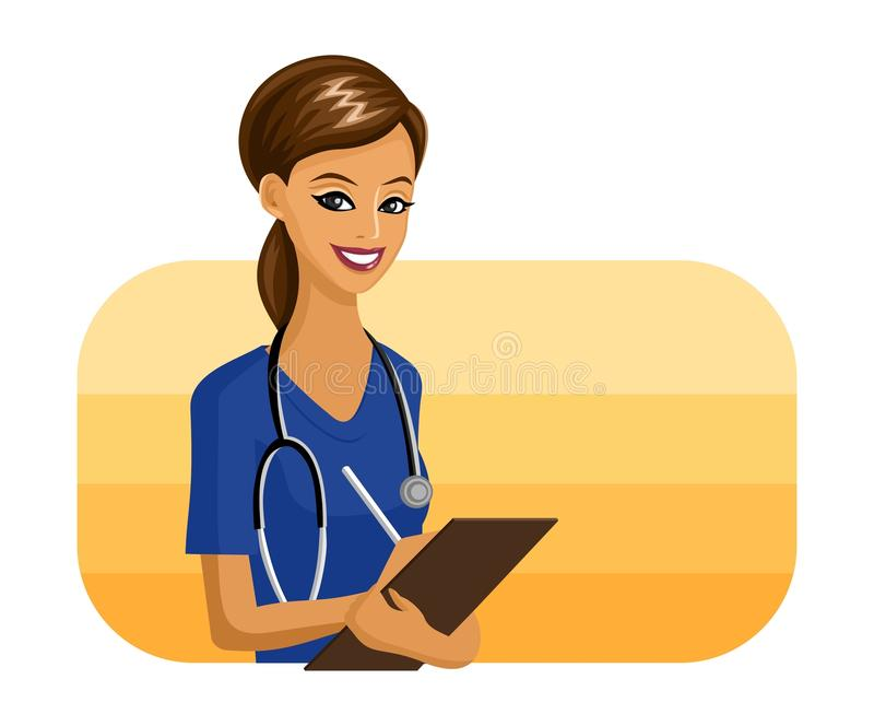 Download Doctor stock vector. Illustration of woman, profession - 13467591