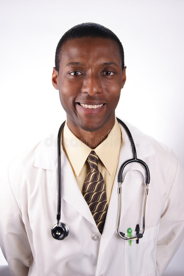 Doctor 2. A stock image of an African American doctor