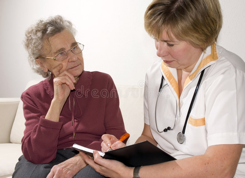 By a doctor stock image