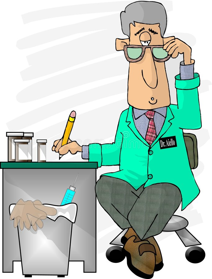 Download The Doctor is in stock illustration. Illustration of write - 39305