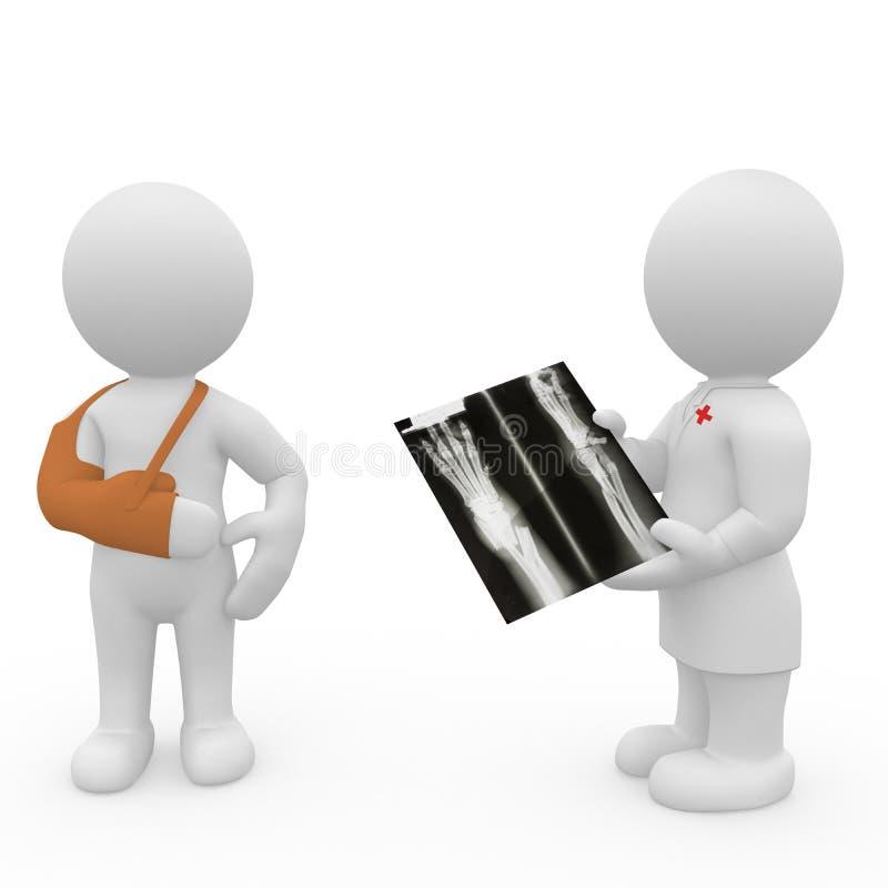 doctor 3D y paciente ilustración del vector