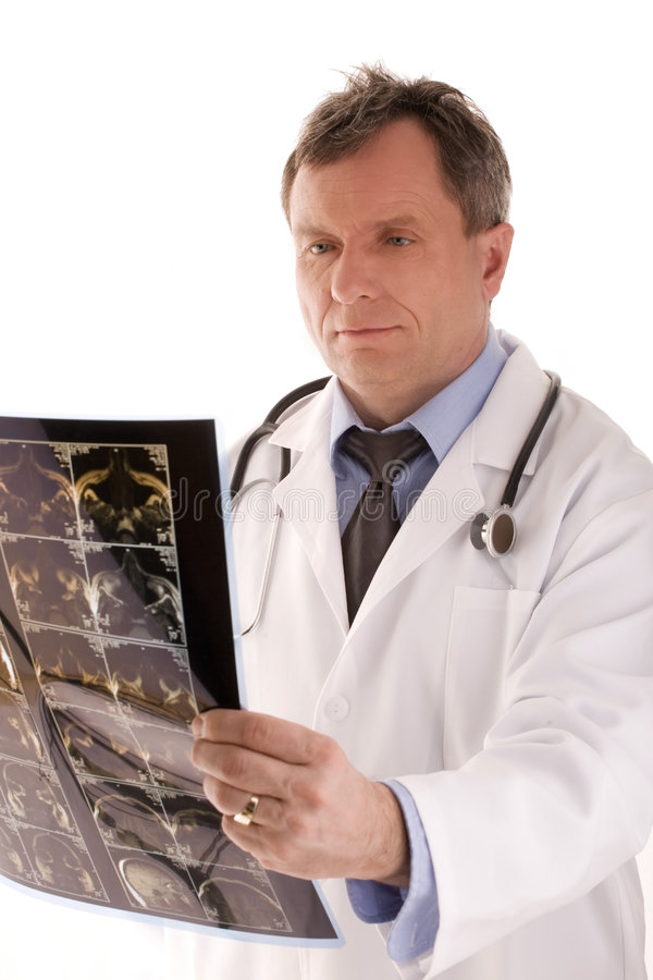 Doctor. Portrait of a medical doctor royalty free stock images