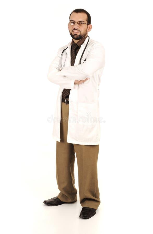 Doctor acertado joven, funcionamiento médico imágenes de archivo libres de regalías