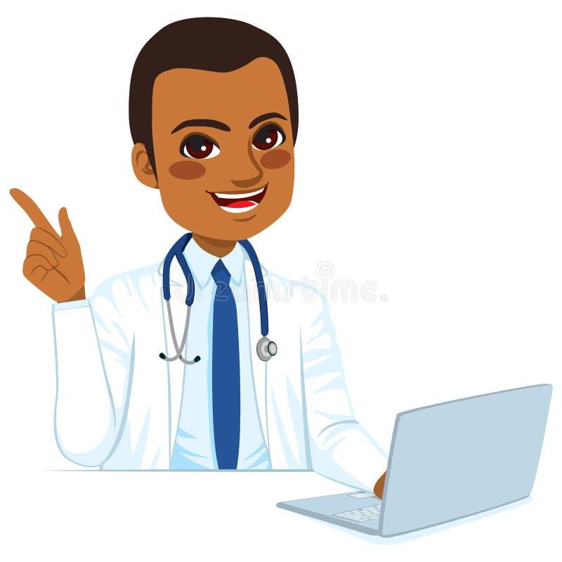 Doctor afroamericano ilustración del vector