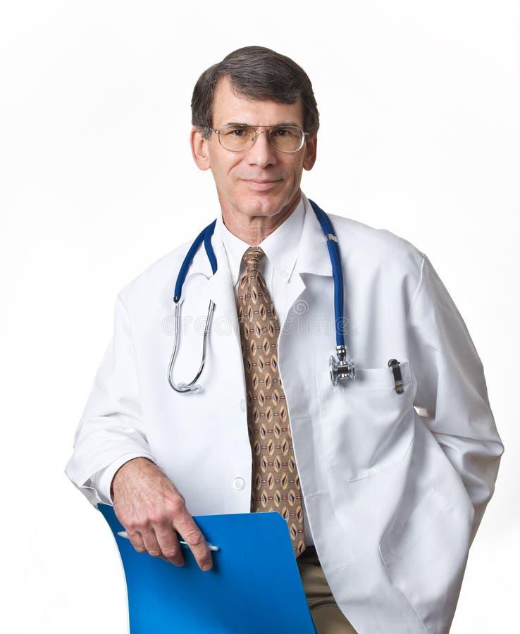 Doctor aislado en el fondo blanco imagen de archivo