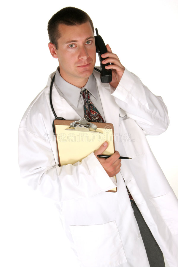 Free Doctor Answers Your Questions Royalty Free Stock Photos - 356288