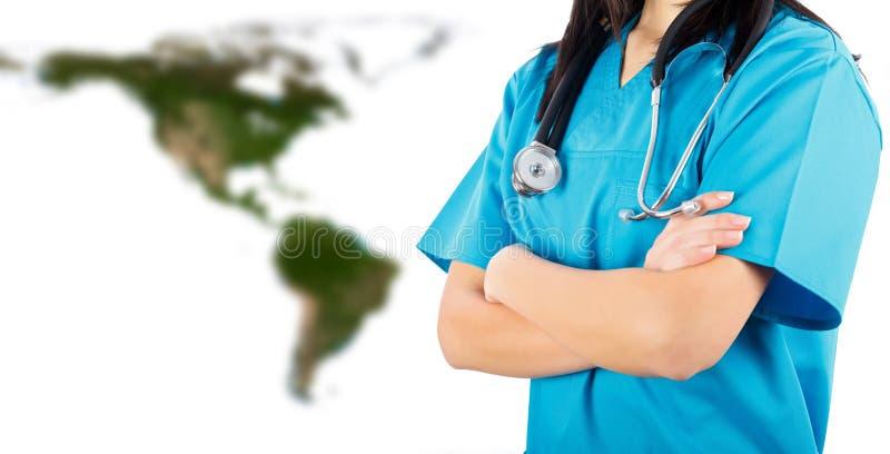 Doctor antes del norte y de Suramérica imagen de archivo