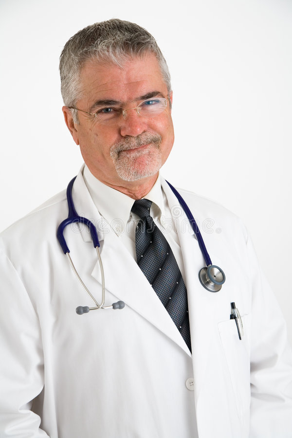 Doctor with an approving smile royalty free stock images