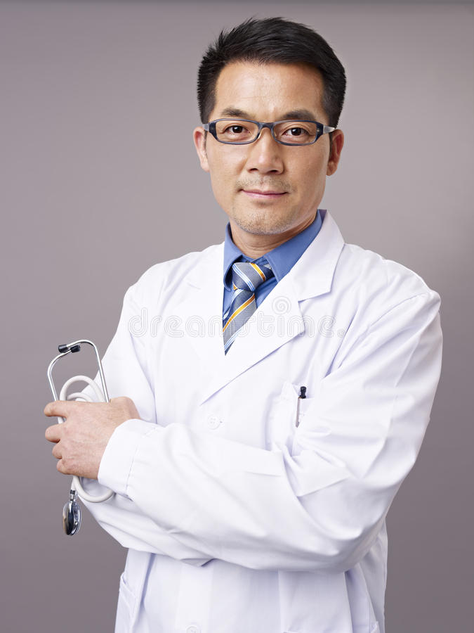 Doctor asiático fotos de archivo libres de regalías