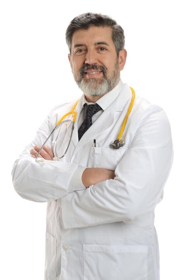 doctor att le för pensionär arkivfoton