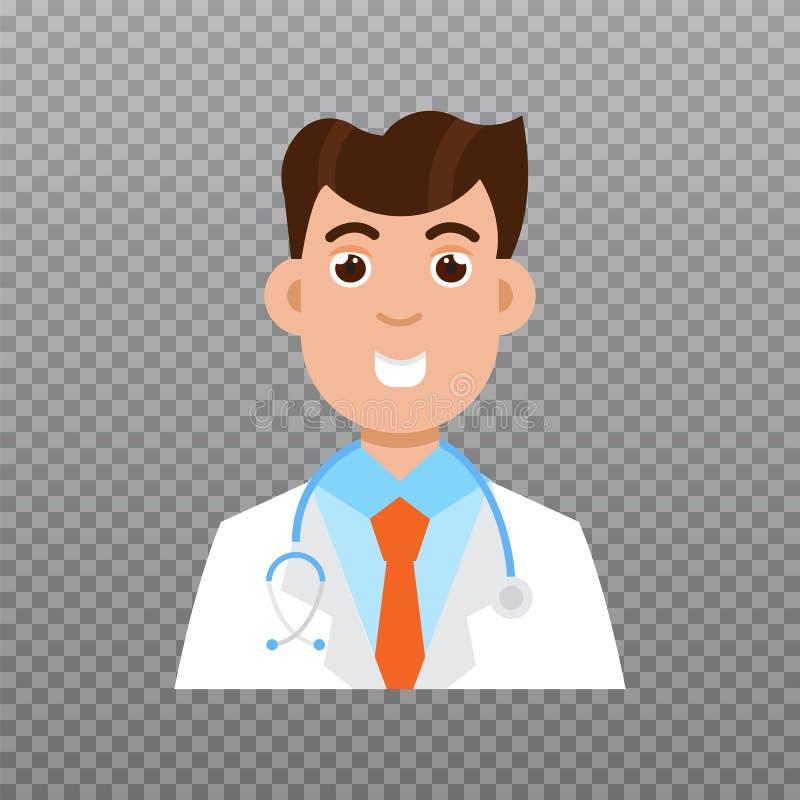 Doctor avatar icon, Medical staff icon. Vector illustration stock illustration