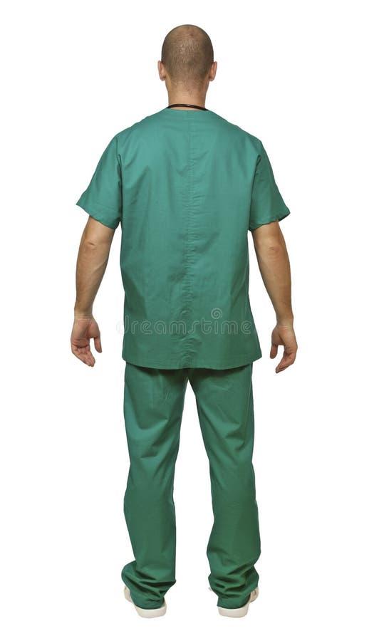 Doctor Back Portrait Stock Image