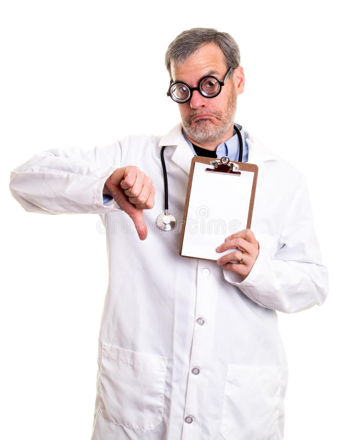 Doctor with Bad Test Results royalty free stock photo
