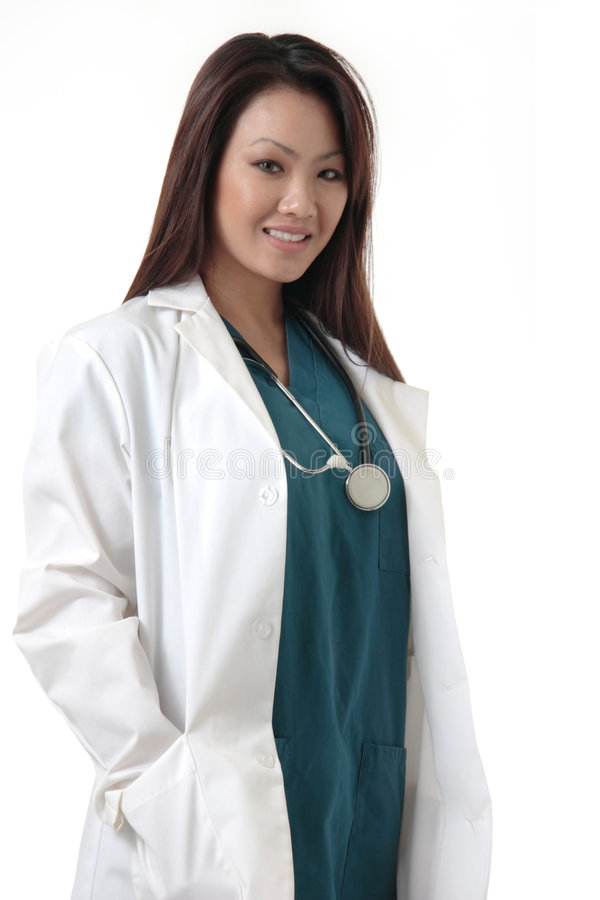 Doctor bastante asiático imagenes de archivo