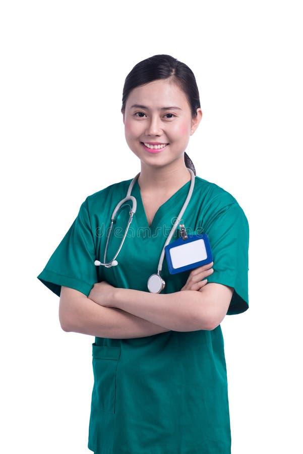 Doctor bastante asiático fotografía de archivo