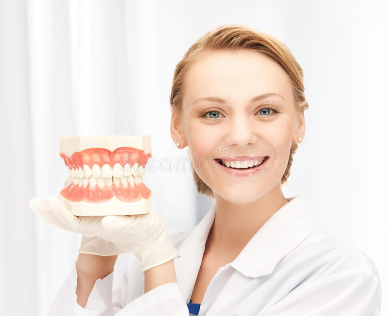 Download Doctor with big jaws stock photo. Image of enamel, happy - 38068142