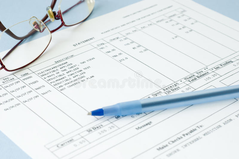 Download Doctor bill stock photo. Image of insurance, hospital - 33284258