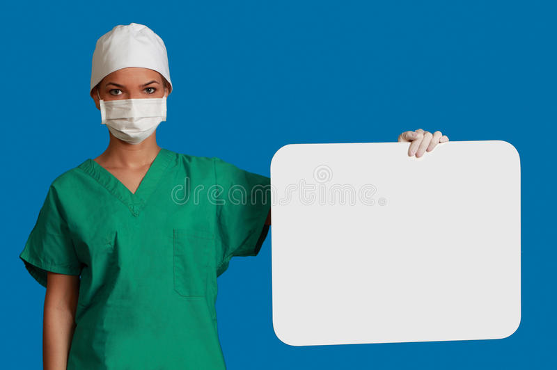 Download Doctor with a Blank Board stock image. Image of holding - 27760275