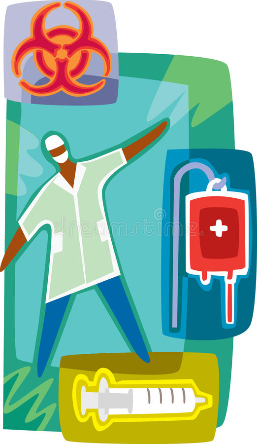 Doctor and blood services. A doctor and blood services vector illustration