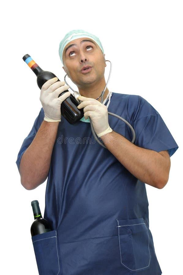 Doctor borracho imagenes de archivo